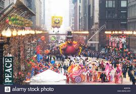 thanksgiving day parade on state in chicago stock photo