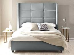 tall outline wingback upholstered headboard tall gray upholstered