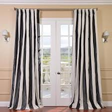 White Faux Silk Curtains Black And White Faux Silk Taffeta Curtain Panel