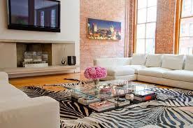 Zebra Area Rug Zebra Area Rug And Sleek Glass Coffee Table For Charming Living