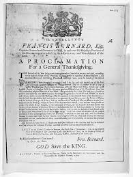 thanksgiving proclamations of the colonial and founding period
