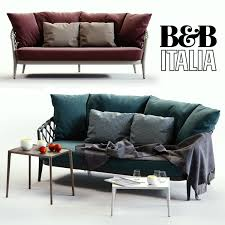 bb italia erica blue and red sofa 3d cgtrader
