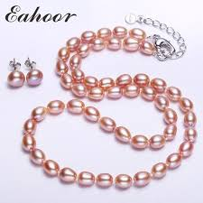 silver freshwater pearl necklace images 45cm 17 7 inch 925 silver white pink purple drop freshwater pearl jpg