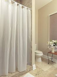 Amazoncom AZK Shower Curtain Liner Frost Privacy with Bottom