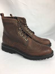 s lace up boots size 9 wolverine percy wingtip leather lace up s boots brown size 9