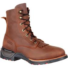 rocky technoram men u0027s comfortable brown lacer western boot