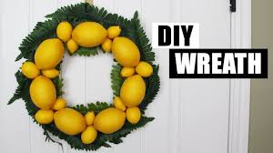 Real Deals On Home Decor Ogden Ut Diy Spring Summer Wreath Diy Lemon Wreath Diy Front Door