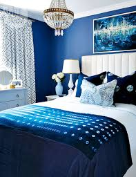 interior contemporary romance royal blue bedrooms blue