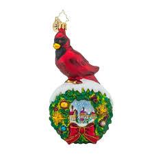 christopher radko ornaments radko velvet cardinal ornament