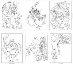 alice wonderland coloring book