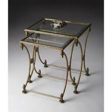 butler specialty nesting tables butler specialty nesting tables rectangular glass top in antique