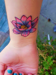 beautiful pink lotus flower tattoo on stomach tattooimages biz