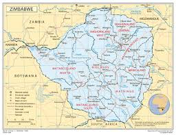 Road Map Of Louisiana by Full Political Map Of Zimbabwe Zimbabwe Full Political Map