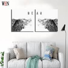 tableau pour chambre b ween étiré et encadrée mur photos pour chambre moderne ours