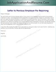 Executive Letter Of Resignation Sample Letter To Rejoin The Job Jaar Head Hunters