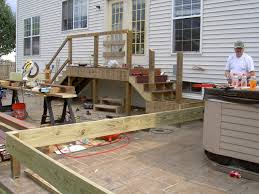Stain Existing Concrete Patio by Floating Deck Over Concrete Patio Beautiful Home Design Classy