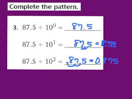 lesson 5 1 division patterns with decimals youtube