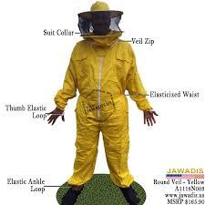 Beekeeper Halloween Costume Yellow Beekeeping Bee Suit Sheriff Style Veil