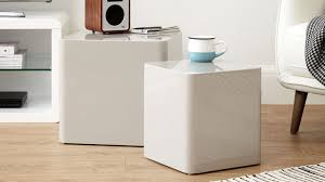 White Gloss Side Table Dice White Gloss Side Tables Cube Coffee Table High Gloss And