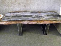 Petrified Wood Bench Petrified Wood Slab Table For Sale From Touchstonegalleries Tables