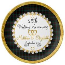 25th anniversary plates personalized personalized 65th anniversary porcelain plate anniversaries