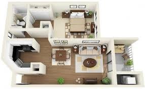 appartement 1 chambre 50 plans en 3d d appartement avec 1 chambres 3d appartements et