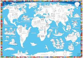 weltkarte für kinderzimmer weltkarte für kinder landkarte mit flaggen im kinderpostershop