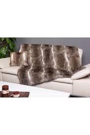 in long hair bedspread or blanket in long hair rabbit fur