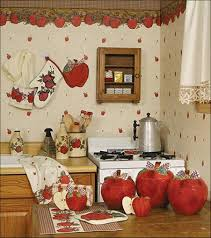 Apple Kitchen Decor by Country Style Kitchen Curtains