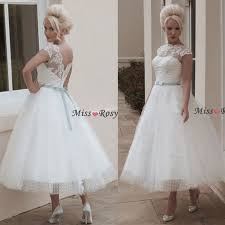turmec tea length wedding dresses with cap sleeves