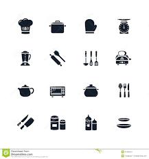 icone cuisine icône de vaisselle de cuisine illustration de vecteur