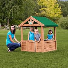 Backyard Play House Backyard Wooden Playhouse On Clearance For 53 33 Free Shipping