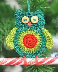 crochet owl ornaments repeat crafter me