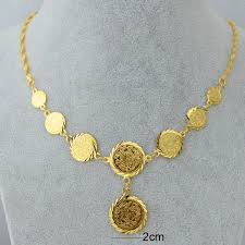 gold pendant chain bracelet images Wholesale luxury coin set necklace bracelet earring ring 18k gold jpg