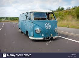 1966 volkswagen microbus rat look split screen vw volkswagen micro bus or van driving stock