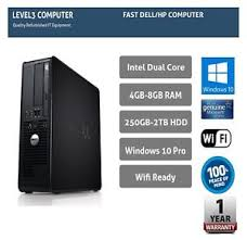 ordinateur pc bureau fast dell hp pc computer desktop tower windows 10 wifi 8gb ram 2tb