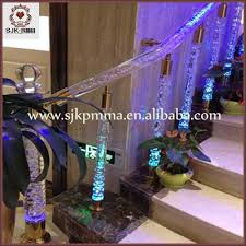 Christmas Lights For Stair Banisters Clear And Bubble Master Acrylic Pillars Acrylic Staircase Design