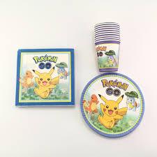vaisselle jetable fete f u0026ecirc te d u0026 39 anniversaire pikachu promotion achetez des