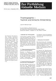 Dr Martin Baden Baden Thermographie U2014 Technik Und Klinische Anwendung
