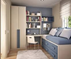 bedroom modern small bedroom ideas feature beige and blue wall