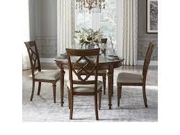 legacy classic latham 5 piece dining set with round table