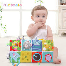 baby crib lights toys baby crib hanging soft book rattles toy colorful patterns light