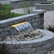 modern backyard waterfalls pondless modern backyard waterfalls