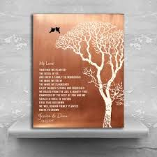 tin anniversary gifts my poem personalized faux copper bare winter wedding tree tin