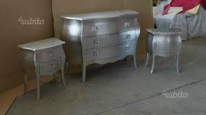 comodini foglia argento como e comodini bombati foglia argento arredamento e casalinghi