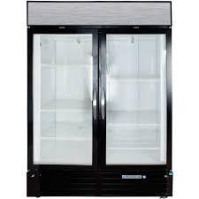 glass door chest freezer beverage air mmf49 1 b led black marketmax 2 glass door