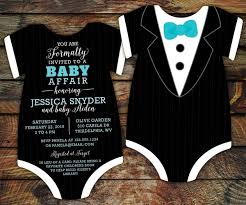 10 tuxedo baby shower invitations black tie by littlebeesgraphics