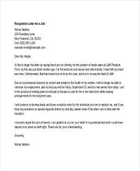 sample thank you resignation letters email resignation letter to