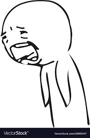 Sad Guy Meme - sad guy meme face for any design isolated vector image