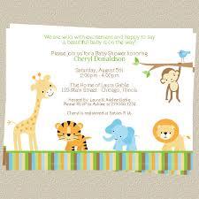jungle baby shower invitations zoo or safari theme set of 10
